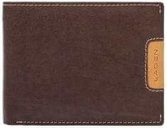 Lagen Męska skóra portfel 615195 Brown / Tan
