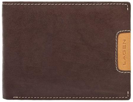 Lagen Férfi bőr pénztárca 615195 Brown / Tan