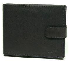 Lagen Męska skóra portfel V-42 czarny