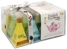 English Tea Shop Dárková kolekce 12 pyramidek Bílý čaj 4 příchutě
