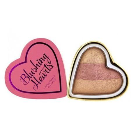Makeup Revolution (Hearts Blusher Peachy Keen Heart) 10 g