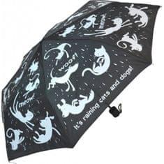 Blooming Brollies Női mechanikus összecsukható esernyő Everyday Raining Cats & Dogs EDFRCD