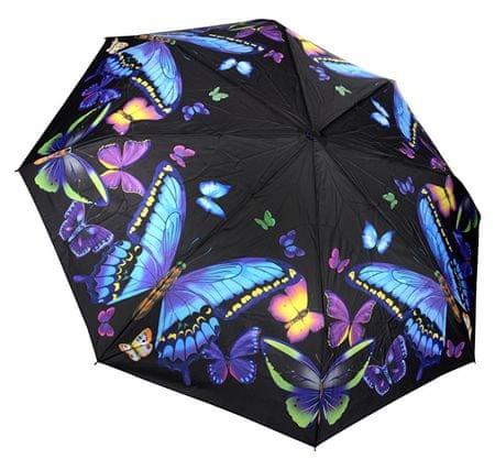 Blooming Brollies Damski składane w pełni auto Matic parasol Galleria Nature Moon light Butterflies GBFMB