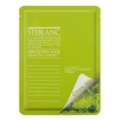 Steblanc Tisztító és nyugtató arcpakolás zöld tea (Essence lap maszk Green Tea) 20 g