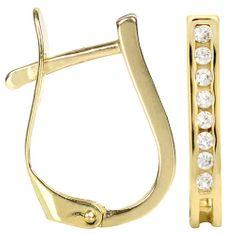 Brilio Zlaté náušnice s krystaly 239 001 00559 zlato žluté 585/1000
