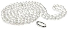 JwL Luxury Pearls Dlhý náhrdelník z bielych pravých perál JL0076