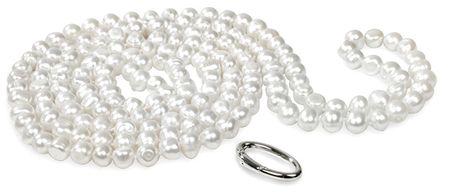 JwL Luxury Pearls Dlouhý náhrdelník z bílých pravých perel JL0076