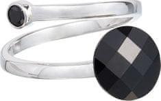 Preciosa Prstan temni slog črn 6863 20 srebro 925/1000
