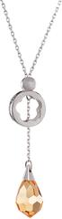 Preciosa Náhrdelník Silky Topaz 6855 61 stříbro 925/1000