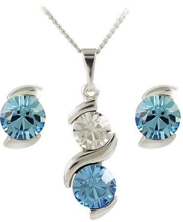 MHM Ustaw Aquamarine biżuteria Sisi 34176 srebro 925/1000