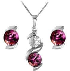 MHM Ustaw Ametyst biżuteria Sisi 34212 srebro 925/1000