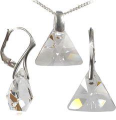 MHM A biżuteria Triangle Kryształ Ag 34197 srebro 925/1000