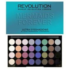 Makeup Revolution Paletka 32 očných tieňov Mermaids Forever