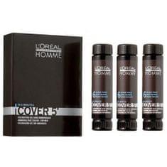 Loreal Professionnel Gélová farba na vlasy pre mužov Homme Cover 5 3 x 50 ml
