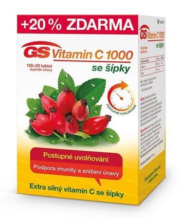 GreenSwan GS Vitamin C 1000 + šípky 100 tbl. + 20 tbl. ZDARMA