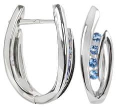Silver Cat Ezüst fülbevaló kristályokkal SC138 ezüst 925/1000