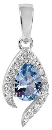 Silver Cat Ezüst medál kék kristállyal SC116 ezüst 925/1000