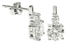 Silver Cat Srebra kolczyków z kryształami SC126 srebro 925/1000