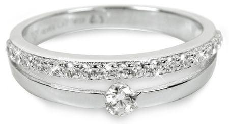 Silver Cat Srebra pierścień z kryształami SC118 (obwód 54 mm) srebro 925/1000