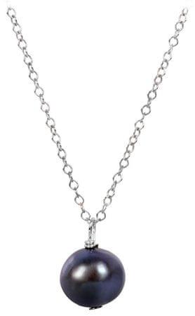 JwL Luxury Pearls Ezüst nyaklánc acél színű igazgyöngy medállal JL0086 ezüst 925/1000