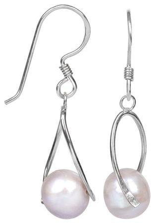 JwL Luxury Pearls Igazgyönggyel díszített ezüst fülbevaló JL0110 ezüst 925/1000