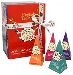 English Tea Shop Darčeková kolekcia 12 pyramídiek Červenomodrý mix 4 príchute