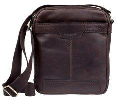 Lagen Bőr Crossbody Bag sötétbarna 20654
