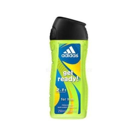 Adidas Żel pod prysznic dla mężczyzn na ciało i włosy Get Ready! (Żel pod prysznic) (objętość 400 ml)