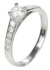Brilio Dámsky prsteň s kryštálmi 229 001 00668 07 biele zlato 585/1000