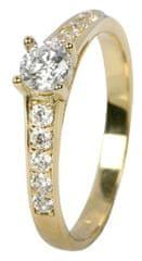 Brilio Ženski prstan s kristali 229 001 00668 rumeno zlato 585/1000