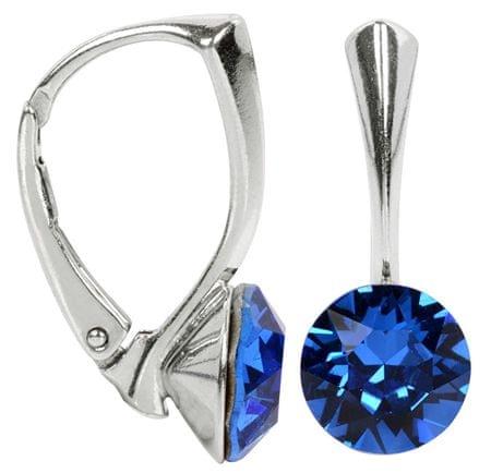 Troli Srebrni uhani Xirius Capri Blue srebro 925/1000