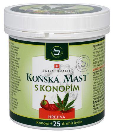 Herbamedicus Koňská mast hřejivá s konopím 250 ml