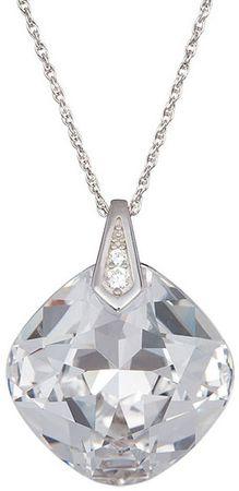 Preciosa Kristalno čista ogrlica Brilliant Rose 6011 00 (veriga, obesek) srebro 925/1000