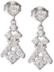 Preciosa Náušnice s kryštálmi Crystal Way 6021 00 striebro 925/1000