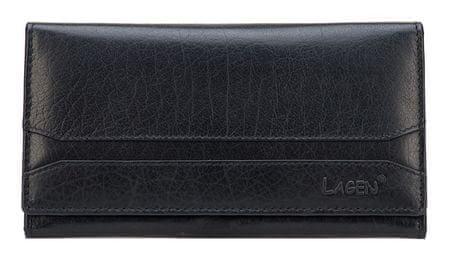 Lagen Női fekete bőr pénztárca fekete W-2025