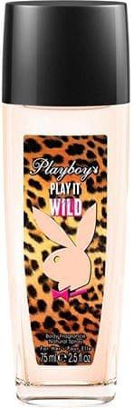 Playboy Play It Wild For Her - deodorant s rozprašovačem 75 ml