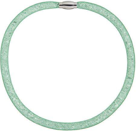 Preciosa Svetleča ogrlica Škrlatno zelena 7250 66