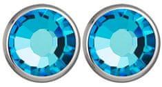 Preciosa Náušnice Carlyn s kryštálom Bermuda Blue 7235 46