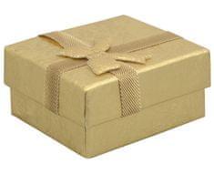 Jan KOS Dárková krabička na náušnice ve zlaté barvě RZ-1/AU
