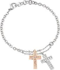 Morellato bransoleta stalowa bicolor z krzyżami Miłość SADR05