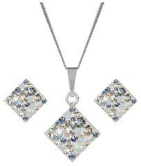 Evolution Group Ezüst csillogó ékszer szett 39126.3 ( fülbevaló , nyaklánc, medál ) ezüst 925/1000