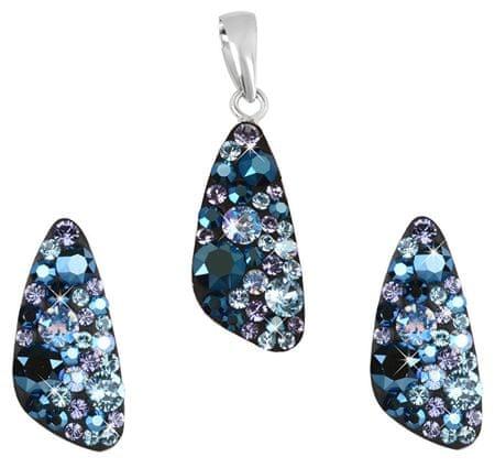Evolution Group Stříbrná souprava šperků 39167.3 blue style (náušnice, přívěsek) stříbro 925/1000