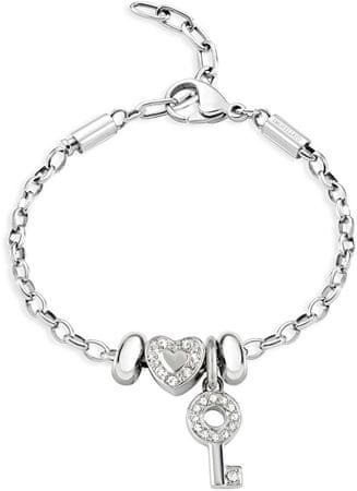 Morellato bransoleta ze stali krople Heart and Key SCZ677