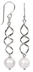 JwL Luxury Pearls Elegantné strieborné náušnice s pravou bielou perlou JL0158 striebro 925/1000