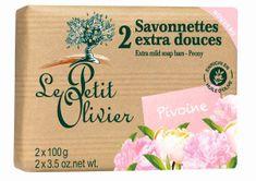 Le Petit Olivier Extra jemné mydlo Pivoňka 2 x 100 g