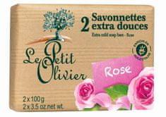 Le Petit Olivier Extra jemné mydlo Ruža 2 x 100 g
