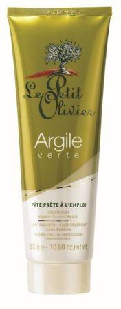 Le Petit Olivier Kíméletes tisztító paszta, zöld agyag 300 g
