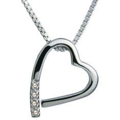Hot Diamonds Náhrdelník Hot Diamonds Just Add Love Memories DP100 (řetízek, přívěsek) stříbro 925/1000