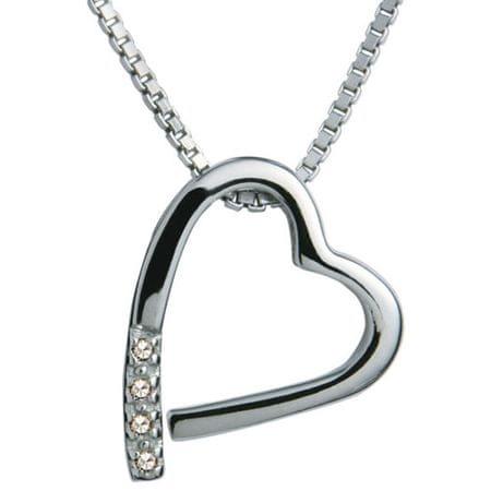 Hot Diamonds Naszyjnik Hot Diamonds Just Add Miłość Memories DP100 srebro 925/1000