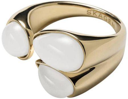 Skagen Modni zlati prstan SKJ0747710 (Vezje 57 mm)